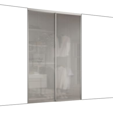Ante scorrevoli Boston in vetro, L 120 x H 270 cm