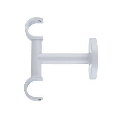 Supporto doppio aperto Ø20mm Nilo in metallo bianco lucido 30cm INSPIRE