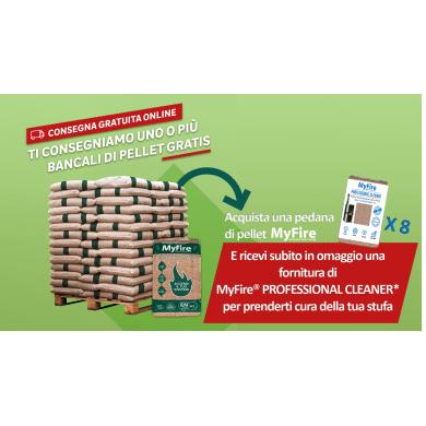 Pellet MyFire Energy Power ENplus A1 70 sacchi da 15 kg in pino e abete