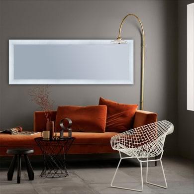Specchio con cornice a parete rettangolare Brina bianco 50.5x140.5 cm INSPIRE