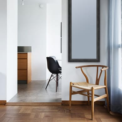 Specchio con cornice a parete rettangolare Brina nero 50.5x140.5 cm INSPIRE
