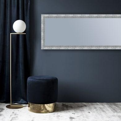 Specchio con cornice a parete rettangolare Brina argento 50.5x140.5 cm INSPIRE