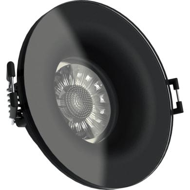 Faretto orientabile da incasso cilindro Faretto da incasso   in Alluminio nero, GU10 50W IP44 XANLITE