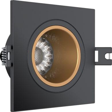 Faretto da incasso orientabile quadrato Faretto da incasso   in Policarbonato nero, GU10 3x50W IP20 XANLITE