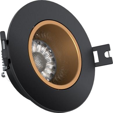 Faretto orientabile da incasso cilindro Faretto da incasso   in Policarbonato nero, GU10 50W IP20 XANLITE