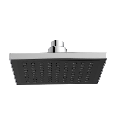 Soffione doccia Square 16 cm in abs cromo - nero cromato
