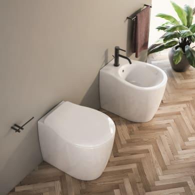 Vaso wc a pavimento filo muro soft
