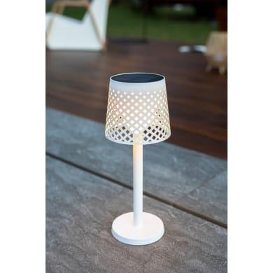 Lampioncino solare Greta LED integrato H80cm bianco 0.5W 8-100LM IP44