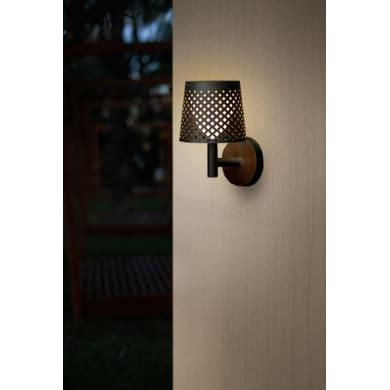 Lampioncino solare Greta LED integrato H80cm nero 0.5W 8-100LM IP44
