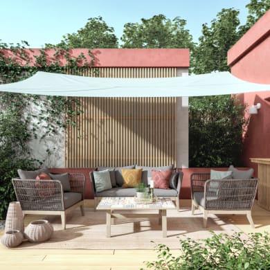 Poltrona da giardino con cuscino  in legno Soho colore natural
