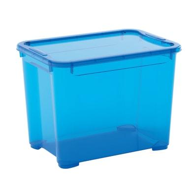 Scatola L 38 x H 28.5 x P 26.5 cm azzurro
