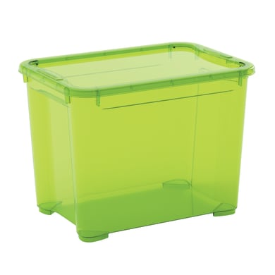 Scatola L 38 x H 28.5 x P 26.5 cm verde