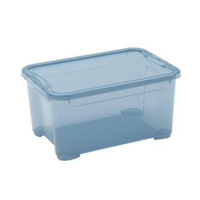 Scatola L 38 x H 19 x P 26.5 cm azzurro