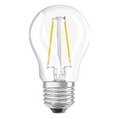 Lampadina LED filamento, E27, Goccia, Trasparente, Luce calda, 1.6W=136LM (equiv 15 W), 320° , OSRAM