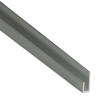 Profilo cimasa STANDERS in alluminio 1 m x 1.8 cm grigio
