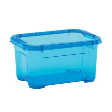 Contenitore L 26 x H 14 x P 19 cm azzurro