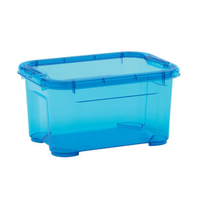 Scatola L 26 x H 14 x P 19 cm azzurro