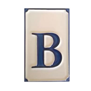 Lettera civica B , 6.5 x 11 cm