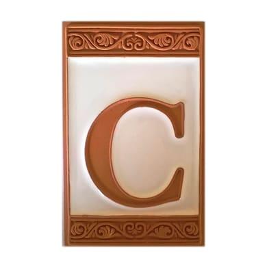 Lettera C ceramica , 6.5 x 11 cm
