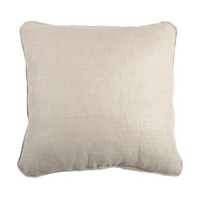 Cuscino grande Toile lin beige 50x50 cm