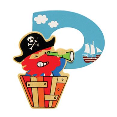 Lettera P pirata , 6.5 x 7.5 cm