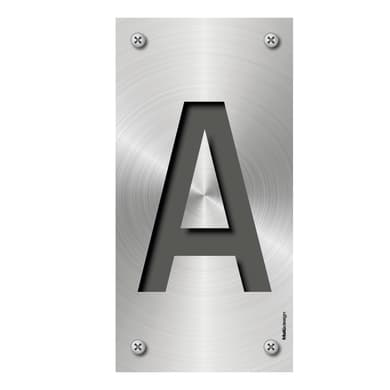 Lettera civica Metal A , 7.5 x 15 cm