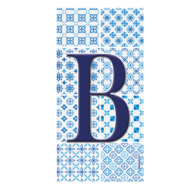 Numero civico Arabesque B , 7.5 x 15 cm