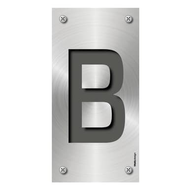 Lettera civica Metal B , 0.75 x 1.5 cm