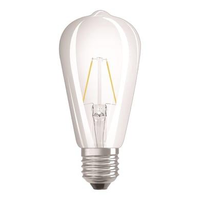 Lampadina LED filamento, E27, Goccia, Trasparente, Luce calda, 2W=250LM (equiv 25 W), 360° , OSRAM