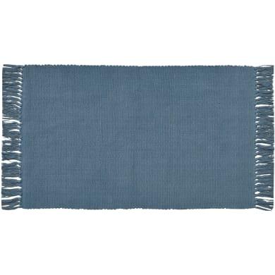 Tappeto Basic in cotone, blu scuro, 50x80 cm