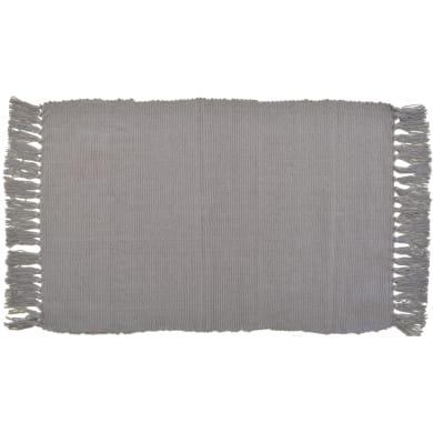 Tappeto Basic in cotone, grigio, 50x80 cm