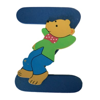 Lettera Z con orsetto , 6 x 8 cm