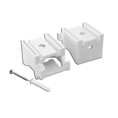 Supporto doppio aperto a vite parete o soffitto 3.5 cm in plastica bianco