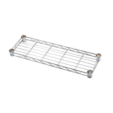 Ripiano in metallo Spaceo Chrome Style+ L 45 x H 4 x P 20 cm grigio cromato