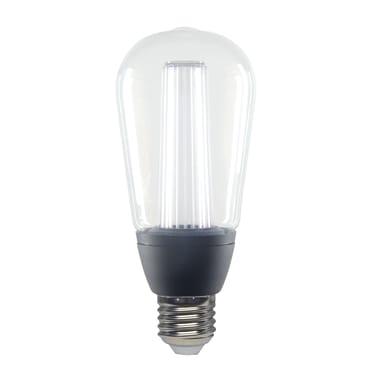 Lampadina LED, E27, Goccia, Trasparente, CCT, 6W=470LM (equiv 40 W), 150° , LEXMAN