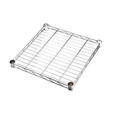 Ripiano in metallo Spaceo Chrome Style+ L 45 x H 4 x P 45 cm grigio cromato