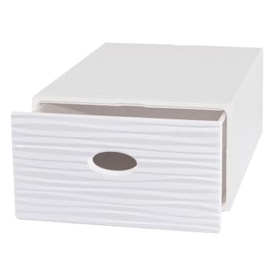 Cassettiera L 40 x P 15 x H 28 cm bianco