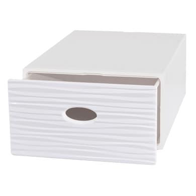 Cassettiera Qbox L 28 x P 40 x H 15 cm bianco