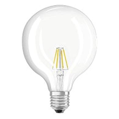 Lampadina LED filamento, E27, Globo, Trasparente, Luce calda, 4W=470LM (equiv 40 W), 360° , OSRAM