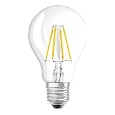 Lampadina LED filamento, E27, Goccia, Trasparente, Luce calda, 4W=470LM (equiv 40 W), 320° , OSRAM