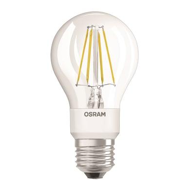 Lampadina LED, E27, Goccia, Trasparente, Luce calda, 4.5W=470LM (equiv 40 W), 300° , OSRAM