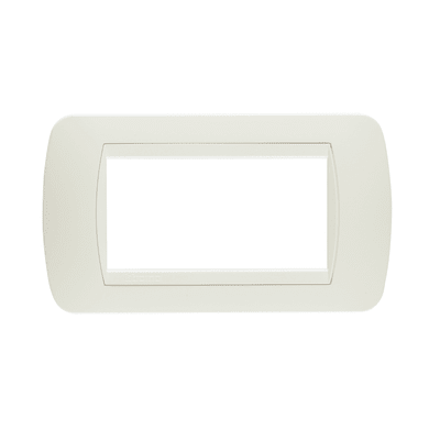 Placca BTICINO Living International 4 moduli total white