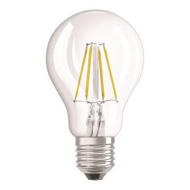 Lampadina LED filamento, E27, Goccia, Trasparente, Luce naturale, 4W=470LM (equiv 40 W), 320° , OSRAM