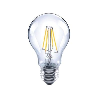 Lampadina LED filamento, E27, Goccia, Trasparente, Luce naturale, 4W=470LM (equiv 40 W), 360° , LEXMAN