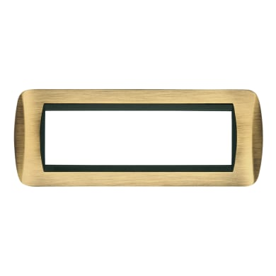 Placca CAL Living International 7 moduli bronzo opaco bronzo compatibile con living international