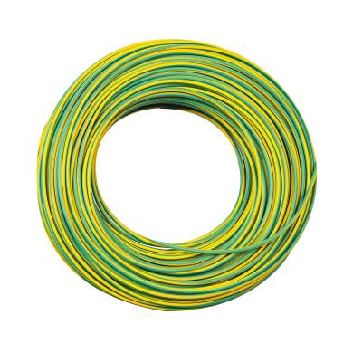 Cavo elettrico giallo/verde fs17  1 filo x 4 mm² 5 m LEXMAN Matassa