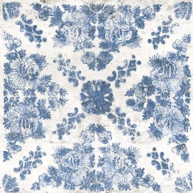 Piastrella DEKORE BLUMEN 61 x 61 cm sp. 20 mm  intens blu