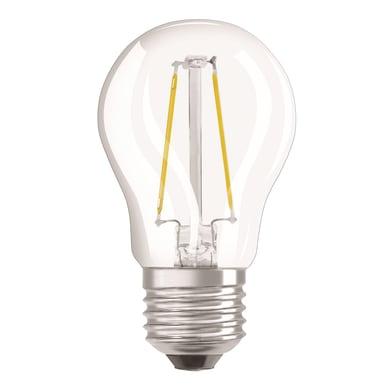 Lampadina LED filamento, E27, Sferico, Trasparente, Luce calda, 4.5W=470LM (equiv 40 W), 320° , OSRAM