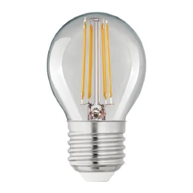 Lampadina LED filamento, E27, Globo, Trasparente, Luce calda, 4W=470LM (equiv 40 W), 360° , LEXMAN