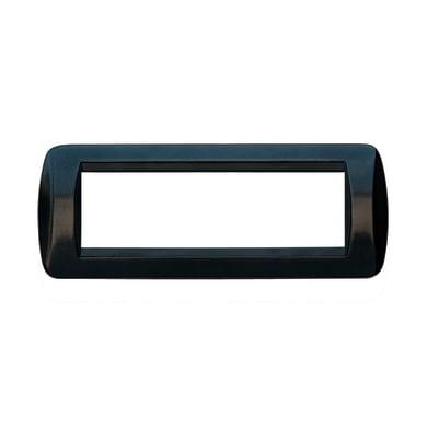 Placca CAL Living International 7 moduli antracite lucida compatibile con living light